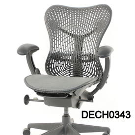 Graphite Tri Flex Back Mirra Swivel Exec Chair