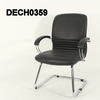 Black & Chrome Ribbed Centre Isis Cantilever Chair