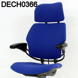 'Hscale' Blue Fabric High Back Swivel Executive Chair