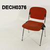 Orange Stripe Seat & Back/Chrome Leg Stacking Chair