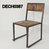 Rsf Metal Frame Teak/Multi Colour Seat & Back Desk Chair  (50s)