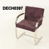 Plum Fabric Chrome Cantilever Brno Chair