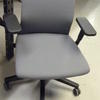 Grey Waffle Fabric Black Frame Mkb  Elbow Swivel Desk Chair