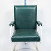 Green Vinyl Cant Chair Grey Frame Green Armpads/Headrest