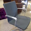 Grey Fabric Steel Frame 4 Prong Base Mkb  Elbow Swivel Desk Chair