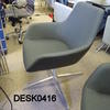 Grey Fabric Steel 4 Prong Base Mkb Swivel Tub Desk Chair