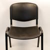 Textured Black Plastic Shaped Seat Stacking Chair