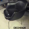 Black Vinyl Bucket Seat/Thin Chrome Leg Spot Visitors Chair