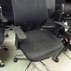Black Farbric Seat/Mesh Back Spot Swivel Elbow Chair