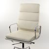 Cream Leather And Chrome High Back Softpad Executive Chair