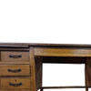 5'3 X 3' Light Oak 5 Drawer Two Ped Desk