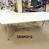 "Custom White Lacquer ""News"" Desk 250cm Radius End"