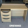 120x46cm Beech 3 Drawer Single Ped Dressing Table