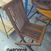 Teak  Slatted/Stickback Folding Chair  (50s)