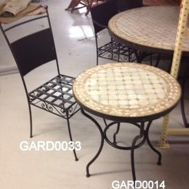 Berber Wrought Iron Occ Dining Chair
