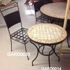 Berber Wrought Iron Occ Dining Chair