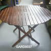 Teak Slatted Circ/Sq Folding Garden Table  (50s)