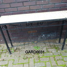 Berber 4' X 1' Mosaic/Wrought Iron Side Table