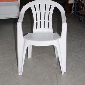 White Plastic Garden Chair