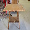 Square Bamboo/Rattan 2 Tier Square Top Pot/Plant  Stand