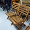 Teak  Ladderback Folding Chair  (50s)
