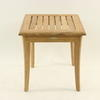 Pale Teak Slatted Curved Leg Occ Table