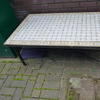 Berber 4' Rect Mosaic/Wrought Iron Coffee Table