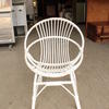 Circ White Painted Bamboo Open Easy Chair