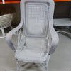 White Woven Wicker Armchair