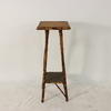 2 Tier Knarled Bamboo & Wicker Plant/Pot Stand