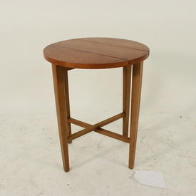 Circ.Teak Plank Folding Drop Flap Table  (50S)