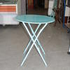 Circ Baby Blue Folding Metal Garden Table