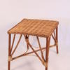 Large Woven Cane Square Occ Table