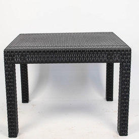 Black Woven Garden Coffee Table 2'x2'