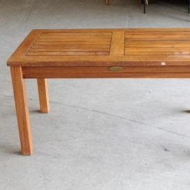 Rect Teak Slatted Garden Table
