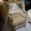 Woven Cane Diamond Pattern Back Armchair