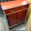 Red & Cream 2 Door  2 Drawer  Base Unit