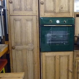 Antique Pine 600 Tall Oven Housing Unit