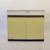 50's 3' 3 Or 2  Drawer  2 Door White/Yellow Formica Kitchen Base Unit