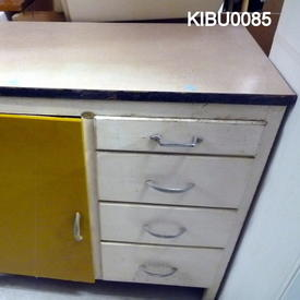 Formica Top 1 Painted Door/4 Drawer Kitchen Base Unit