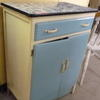 60's Blue 2 Door & Drawer Base Unit