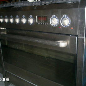 Baumatic S/S 900 Theatre 5 Ring Double Oven Range