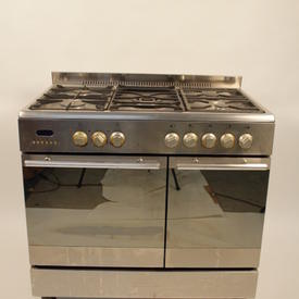 Baumatic S/Steel 900 Theatre Twin Oven/ 5 Ring Burner Cooker