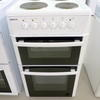 Beko White Glass Door Oven 4 Plate Top Cooker