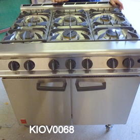 Brushed Steel Falcon 6 Ring Gas Range industrial Cooker