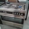 S/Steel And Black 5 Hob Cosgrove Range Cooker