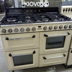 110Cmw X 60Cmd X 90Cmh Cream/Black 7 Burner Smeg Range Oven