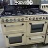 110cm W X 60cm D X 90cm H Cream/Black 7 Burner Smeg Range Oven