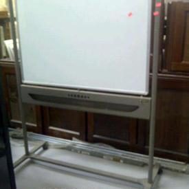 4' X 3' Nobo Swivel Top Mkb Wipe Board on Stand & Castors