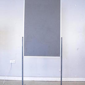 Nobo Floor Standing Notice Board On Grey Frame & Castors